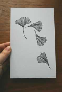 Gingko sketch 3 - very close to how I visualize the leaves being depicted shape wise. also a starting point for overall pattern? Flower Tattoos, Leaf Tattoos, Cross Tattoos, Ginkgo, Zentangle, Kunst Tattoos, Line Artwork, Leaf Drawing, Botanical Tattoo