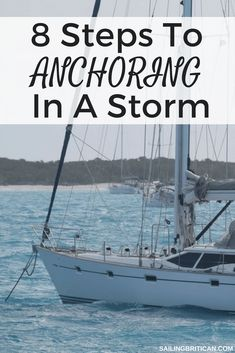 Learn the 8 steps to anchoring in a storm now. No matter what boat you own whether it's a motorboat, monohull or catamaran it's important to know how to anchor when heavy weather hits. These anchoring tips and techniques might help to prevent you from dra Wooden Boat Building, Boat Building Plans, Boat Plans, Liveaboard Sailboat, Boating Tips, Sailboat Living, Boat Safety, Yacht Party, Build Your Own Boat