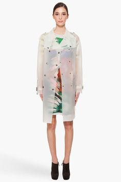 MICHAEL ANGEL Transparent Trench Raincoat #fashion