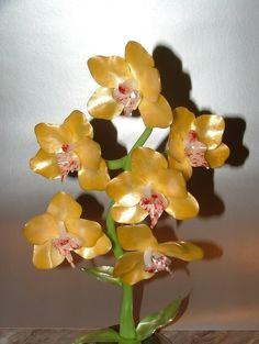 Pulled sugar orhidea