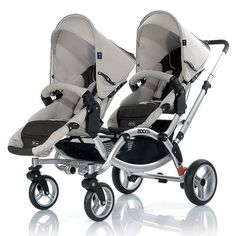 Brevi Ovo Twin Tandem Pram Blue Collection 2014 On Prams