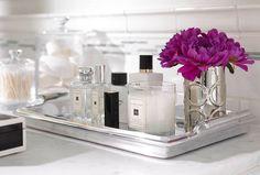 Bathroom Decor. Feminine and perfect bathroom decor. #BathroomDecor