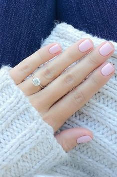 natural pink nail color. Very simple yet so pretty