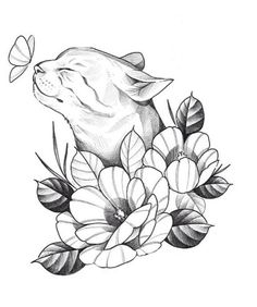 Dark Art Drawings, Art Drawings Sketches Simple, Pencil Art Drawings, Animal Drawings, Mini Tattoos, Cute Tattoos, Body Art Tattoos, Small Tattoos, Tatoos
