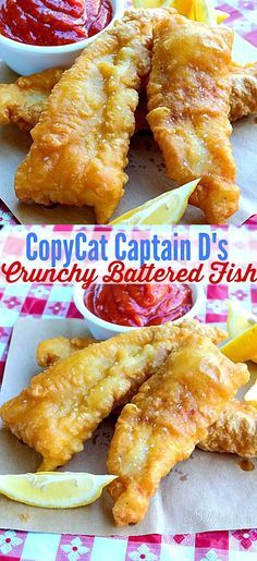 Captain D's Crunchy Battered Fish Crispy battered flaky white fish that is moist inside, I don't know if it can get much better than this!Crispy battered flaky white fish that is moist inside, I don't know if it can get much better than this! Restaurant Recipes, Seafood Recipes, Cooking Recipes, Cooking Videos, Salmon Recipes, Bread Recipes, Fish Dinner, Seafood Dinner, Fish And Chips