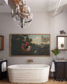 An Art-Filled Bathroom