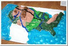 Geography Fun with a Salt Dough Map