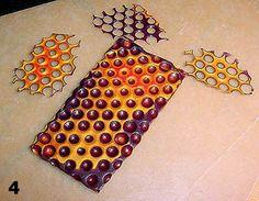 honey comb pattern clay tutorial