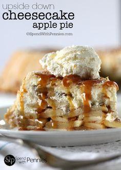 Upside Down Cheesecake Apple Pie! Recipe on Yummly. @yummly #recipe