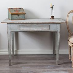 19th Century Swedish Gustavian Table | From a unique collection of antique and modern desks and writing tables at https://www.1stdibs.com/furniture/tables/desks-writing-tables/