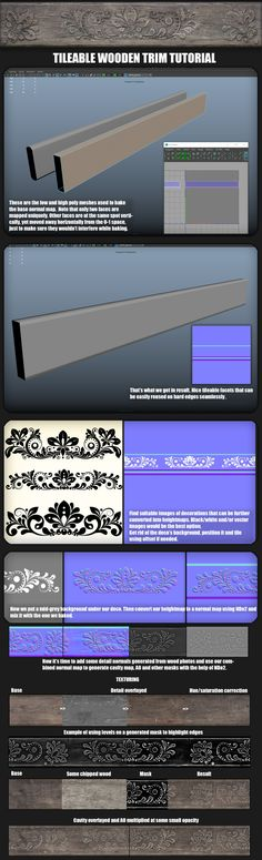 ArtStation - Tilebale wooden trim breakdown, Oleg Tsitovich