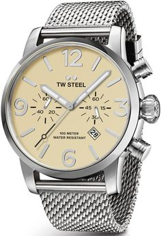 TW Steel Watch Maverick Chronograph #basel-16 #bezel-fixed #bracelet-strap-steel #brand-tw-steel #case-material-steel #case-width-45mm #chronograph-yes #classic #date-yes #delivery-timescale-1-2-weeks #description-done #dial-colour-cream #gender-mens #movement-quartz-battery #new-product-yes #official-stockist-for-tw-steel-watches #packaging-tw-steel-watch-packaging #style-dress #subcat-maverick #supplier-model-no-twmb3 #warranty-tw-steel-official-2-year-guarantee #water-resistant-100m