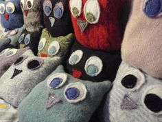 Upcycled wool owl aromatherapy lovey natural by TheMillandAnvil, $13.00