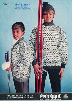Norwegian Knitting, Old Magazines, Vintage Patterns, Norway, Ski, Knitting Patterns, Men Sweater, Models, Sweaters