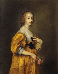 """Anthony van Dyck """"Mary Villier, Lady Herbert of Shurland"""" ca. 1636 by Plum leaves, via Flickr"""