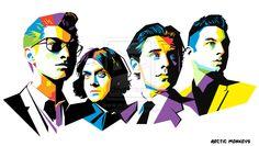Arctic Monkeys in WPAP by aryakuza.deviantart.com on @deviantART