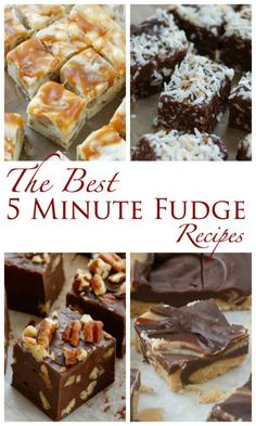I've gathered the best quick and easy fudge recipes here in one place; so that you'll have them at your fingertips throughout the baking season. Check out the White Chocolate Caramel Fudge, Classic Chocolate. Fudge Recipes, Candy Recipes, Chocolate Recipes, Holiday Recipes, Dessert Recipes, Holiday Foods, Winter Recipes, Yummy Recipes, Oh Fudge