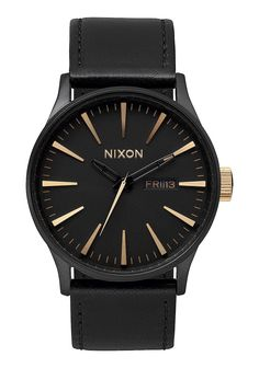 Sentry Leather | Men's Watches | Nixon Watches and Premium Accessories http://www.discountedwatches247.com