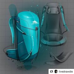 #Repost @livedrawdie ・・・ Sweetened-up an old project for the #weeklydesignchallenge. Check out @weeklydesignchallenge and submit your best backpack! #livedrawshare