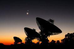 Quand le ciel australien s'illumine. L'Australia Telescope Compact Array, Nouvelle-Galles du Sud (avec la présence de Mercure, Venus et de la lune !) Graeme L. White / Glen Cozens (James Cook University)
