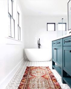 Sweet Home Decoration Simple Ways to Update Your Farmhouse Bathroom - The Cottage Market.Sweet Home Decoration Simple Ways to Update Your Farmhouse Bathroom - The Cottage Market Eclectic Bathroom, Bathroom Rugs, Bathroom Cabinets, Modern Bathroom, Small Bathroom, Bathroom Ideas, Bathroom Vanities, White Bathroom, Master Bathroom
