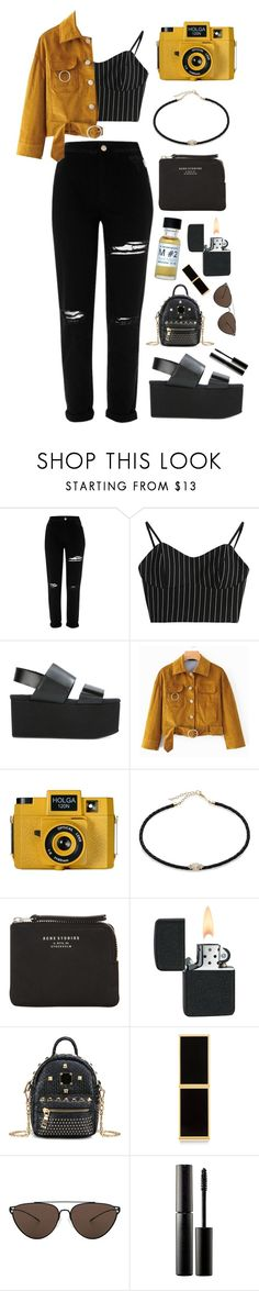 """""""Tourist"""" by mode-222 ❤ liked on Polyvore featuring River Island, Marni, Holga, Jacquie Aiche, Acne Studios, Tom Ford, Oliver Peoples and Surratt"""