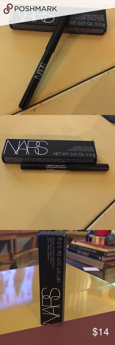 NIB NARS Via Veneto Larger Than Life Eyeliner Mini NIB NARS Via Veneto (Black) Larger Than Life Long Wear Eyeliner Mini. New in Box. What it is: A defining, dramatic and intense formula that takes eyeliner to the next level.  What it does: Its rich, creamy color glides on smoothly with a completely budgeproof finish while giving you incomparable 12-hour wear with no smearing and no caking. Winner of Allure magazine's 'Best of Beauty' Award for Best Color Eyeliner shade Bourbon Street, 2016…