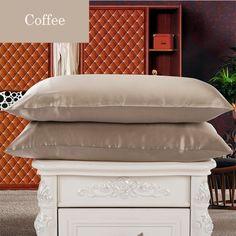pure silk pillowcase in coffee, beautiful & luxury