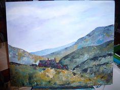Knife painting. Moors Scene. Acrylic