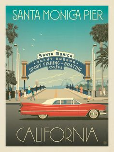Anderson Design Group – American Travel – Santa Monica Pier: Classic Sign