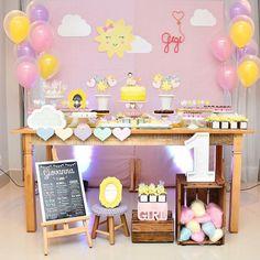 Sunshine Birthday Parties, Baby Birthday, First Birthday Parties, First Birthdays, Rain Baby Showers, Sunshine Baby Showers, Baby Boy Shower, Party Rock, Bday Girl