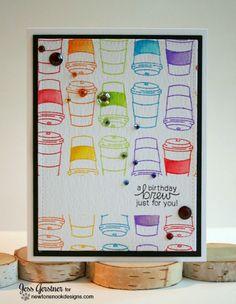 A Birthday Brew Card by Jess Gerstner | Newton Loves Coffee Stamp set by Newton's Nook Designs #newtonsnook #coffee