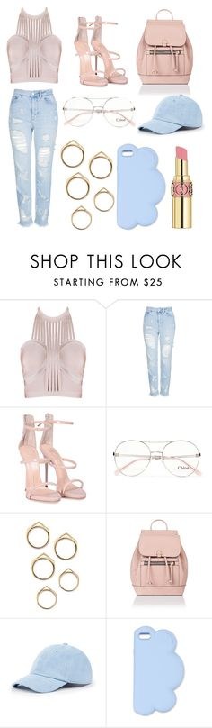 """Street Style #57"" by laughlikecrazy on Polyvore featuring Topshop, Giuseppe Zanotti, Chloé, Accessorize, Sole Society, STELLA McCARTNEY and Yves Saint Laurent"