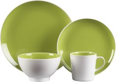 Max Green Dinnerware in Dinnerware Sets | Crate and Barrel ~ NICE!