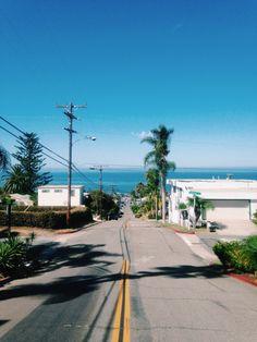 Sunny California streets.