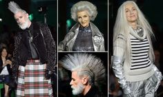 Ageing punks with grey mohawks rule at Jean Paul Gaultier at PFW #DailyMail   OMG!!! This is Awsome!!!!