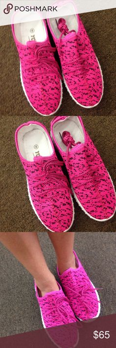 Yeezy boost shoes size 6 knock off Brand- Izzys by yoki-- these are the closest to the yeezy boost shoes that you will find- very comfortable and no one can tell the difference! Kanye himself could squint and be confused lol! Size 6-- hot pink in color- brand new!! Yeezy Shoes Sneakers