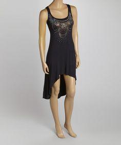 Look at this #zulilyfind! Black Sequin Hi-Low Dress #zulilyfinds