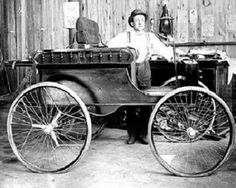 1892 George Ellis in his automobile in Wiscounsin 14-5