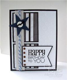 Birthday card by Marisa Ritzen using Verve Stamps.  #vervestamps