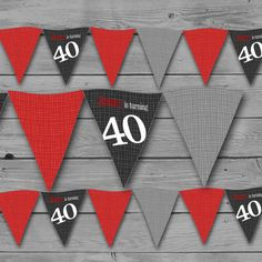 40th Birthday  Party Banner Printable Banner by fancyshmancynotes, $12.00