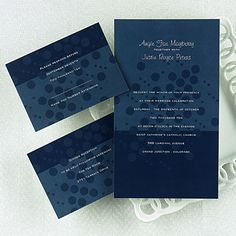 Navy Blue Wedding Invitations ~ Free Spirit Invitations   #wedding invitation #invitation