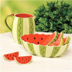 Watermelon Ceramic Serveware. So awesome for summer.