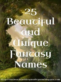 As a writer of fantasy myself, I know that possibly THE HARDEST THING to do in fantasy writing is come up with unique, good names . So he...