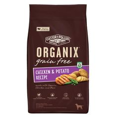 Castor & Pollux Organix Grain-free Chicken & Potato Recipe Adult Dry Dog Food (1x12 Lb)