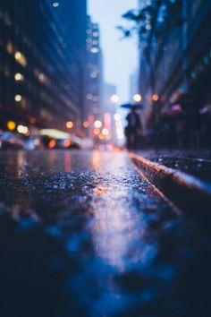 Verregnete Straßen.