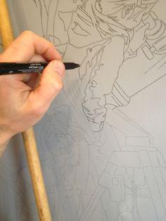 Transferring a large drawing to canvas Bryan larsen