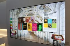 LG's prototype 84-inch Ultra HD 4K display begs to be touched.