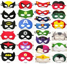 25 felt Superhero Masks party pack - YOU CHOOSE STYLES - Dress Up pla…