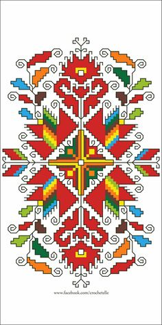 Folk embroidery pattern